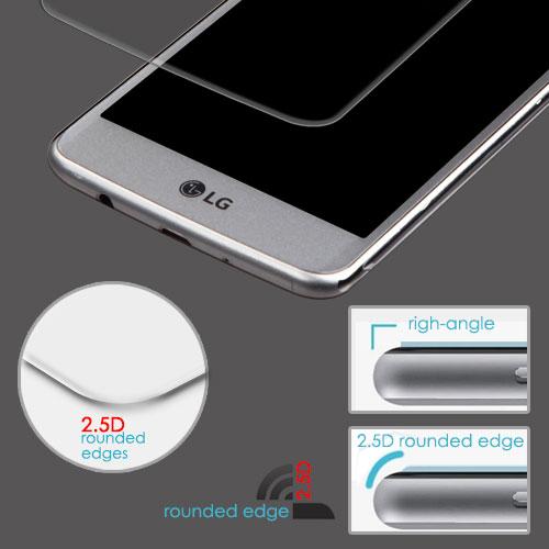 Tempered Glass Screen Protector (2 5D) for LG MS210 (LV3) LG L58VL (Rebel  2) LG Aristo LG K8 (2017) LG M153 (Fortune)