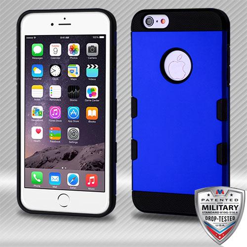 23ad075c1210 Titanium Dark Blue Black TUFF Trooper Hybrid Cover APPLE iPhone 6s Plus 6  Plus