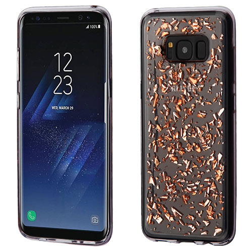 best cheap 44e12 18f4c Details about Rose Gold Flakes Clear Krystal Gel Series Candy Skin SAMSUNG  Galaxy S8