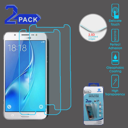 Tempered Glass Screen Protector (2 5D)(2-pack) for SAMSUNG Galaxy On7  (2016) SAMSUNG J727 (Galaxy J7 (2017)) SAMSUNG I8520 (Galaxy Halo) SAMSUNG