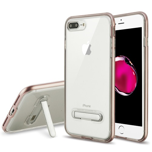 Details About Rose Gold Transparent Clear Magnetic Metal Stand Apple Iphone 8 Plus 7 Plus