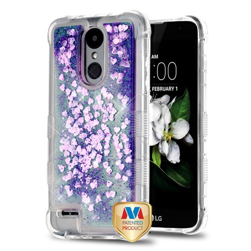 Purple Hearts TUFF Quicksand Glitter Lite Hybrid Protector Cover (with  Package) for LG X210 (Aristo 2) LG K8 (2018) LG Zone 4 LG Fortune 2 LG K8  PLUS