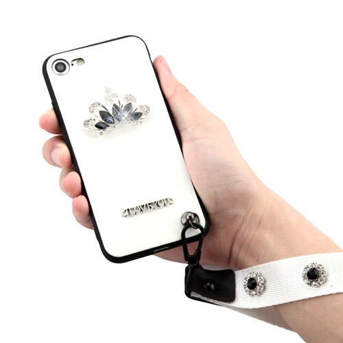 Crystal-3D-Diamante-Protector-Cover-with-Wrist-Lanyard-for-APPLE-iPhone-8-7 thumbnail 11