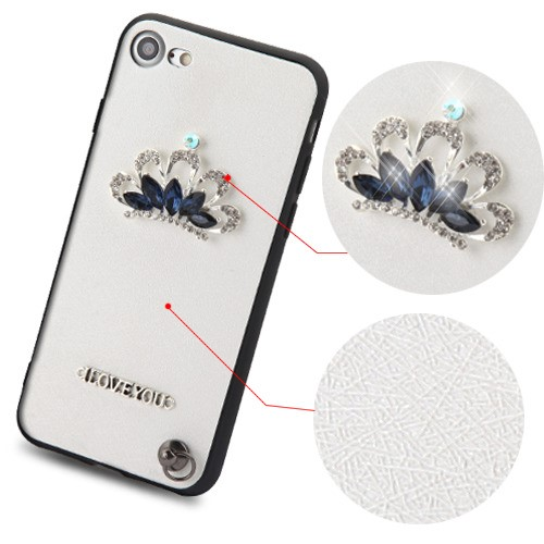 Crystal-3D-Diamante-Protector-Cover-with-Wrist-Lanyard-for-APPLE-iPhone-8-7 thumbnail 12