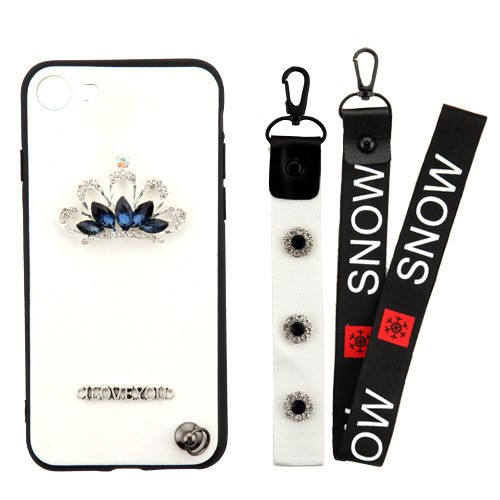 Crystal-3D-Diamante-Protector-Cover-with-Wrist-Lanyard-for-APPLE-iPhone-8-7 thumbnail 15