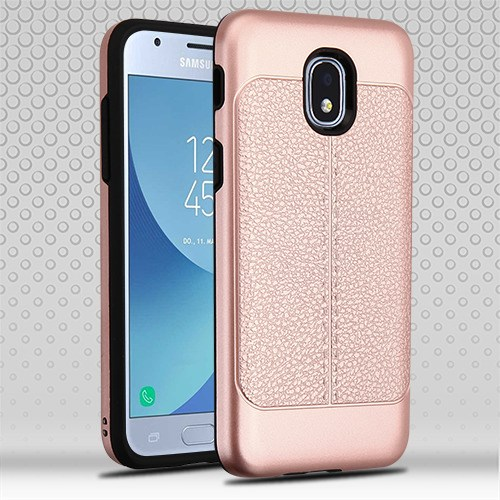 Rose Gold Leather Texture SAMSUNG J337 Galaxy J3 2018 Achieve Express Prime 3