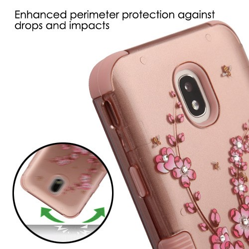 72bf99aca63 Spring Flowers (2D Rose Gold) Rose Gold TUFF Hybrid Phone Protector Cover (